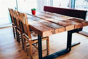 Tisch Aus Alten Balken : tisch esstisch mit flachstahl beinen und alten ~ Michelbontemps.com Haus und Dekorationen