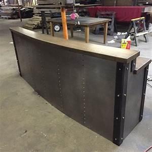 Hand Crafted Restaurant/Business Sleek Metal Front Desk