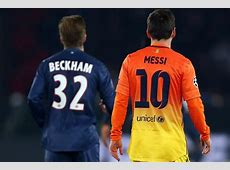 Messi vs Ronaldo Beckham Joins the Stars Weighing in on