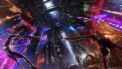 Cyberpunk 4k Neon Fiction Science Wallpapers Artwork