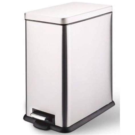 poubelle de cuisine rectangulaire poubelle de cuisine à pédale métal métal 40 l leroy merlin