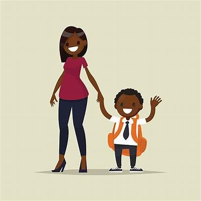 Child Mother African Vector Parent Teacher American