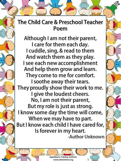 child care workers poem this was true for me preschool 335 | 193f503b919a4d98a7008ec9d1c2f627 teacher poems farewell gift for teacher