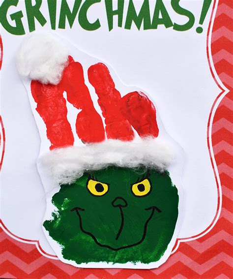 the grinch handprint christmas card with printable i