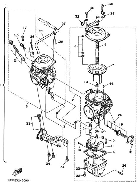 yamaha warrior 350 carburetor diagram diagram schematic