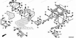 Honda Motorcycle 2016 Oem Parts Diagram For Engine Guard