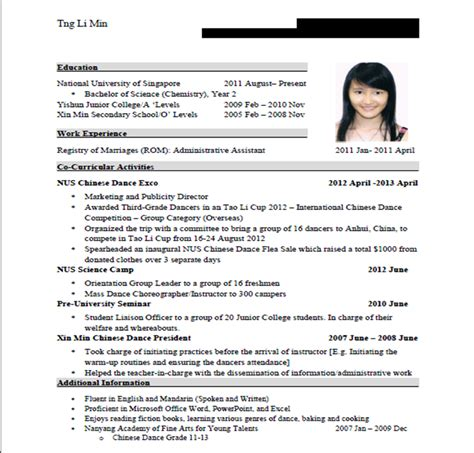 es2007s professional communication resume and application