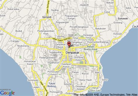 map  bali cliff resort denpasar