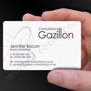 Full colour plastic business cards for Ceo business card sample
