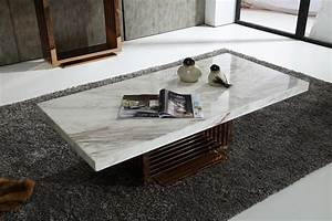 marble white coffee table with stainless framework With rectangle white marble coffee table
