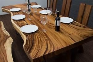 Baumstamm Als Tisch : esstisch baumkanten suar 240x108x78 massivholz baumscheibe ~ Watch28wear.com Haus und Dekorationen