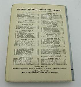 1958 Nfl Football Record And Rules Manual Lions Guide