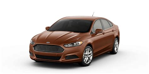 2016 ford fusion trims and color options