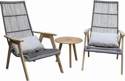 Lounge Teak Chair Patio Cushions Wicker Largent