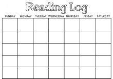 printable reading log st grade  grade middle