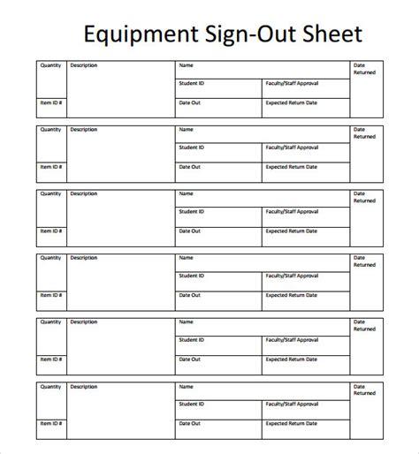 sign out sheet template 13 sign out sheet templates pdf word excel sle