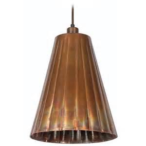 kenroy home lighting flute flamed copper mini pendant