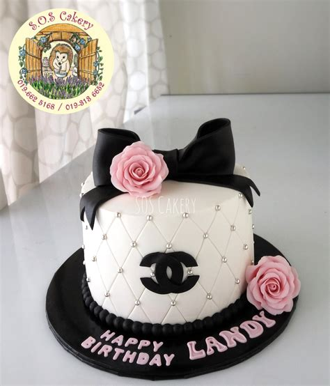chanel cake  roses sos cakery