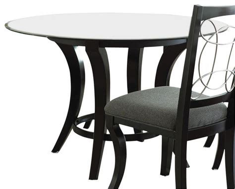 42 inch glass top dining table steve silver cayman 48 inch round dining table w beveled