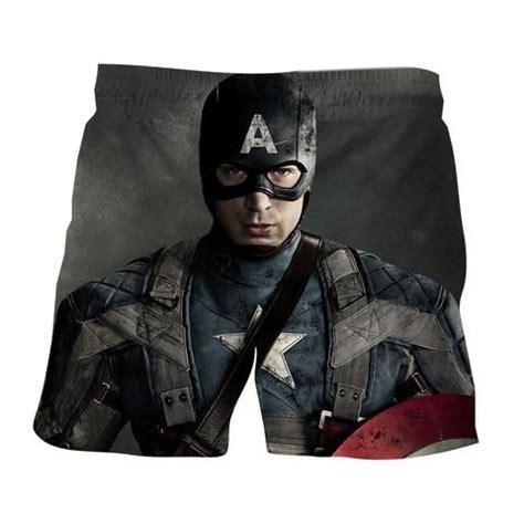 Chris Evans Captain America Realistic Portrait Boardshorts