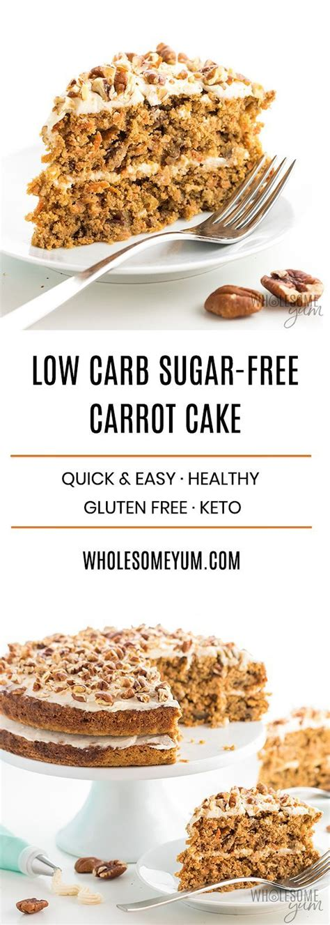 Since there's no baking involved in these easy no bake low carb desserts, many use gelatin to stiffen them. Low Carb Keto Sugar-Free Carrot Cake Recipe With Almond ...