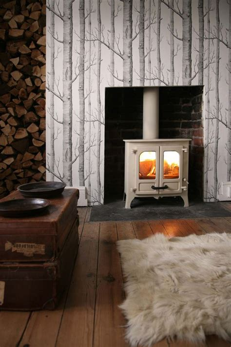 beautiful woodburner fire brought  life  cole sons