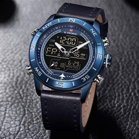 nve naviforce nf dual display military wristwatch retailbd
