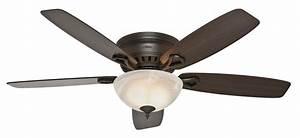 Quot bronze brown ceiling fan stanley park hunter