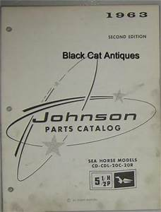 1963 Johnson Outboard Parts Catalog Sea Horse 5 5 Hp