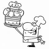 Coloring Pages Chef Bakery Bulk Cake Bulkcolor sketch template