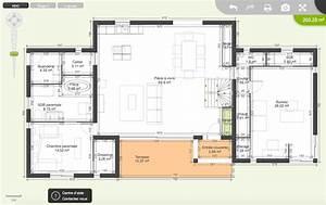 plan maison plain pied 200m2 perfect maison avec plan en With plan maison plain pied 200m2