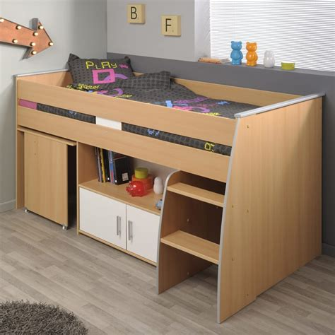 lit bureau combiné lit combiné avec bureau quot gabriel quot 90x200cm marron