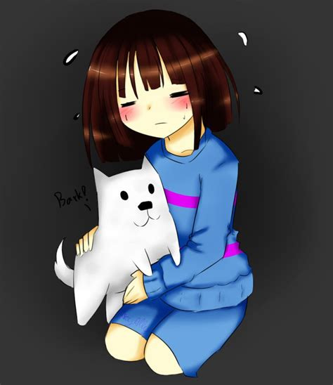 Undertale Annoying Dog Wallpaper Undertale Frisk And Toby Fox By Aeyally On Deviantart