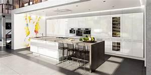 decoration cuisine design 2018 avec modele cuisine avec With modele cuisine avec ilot central table