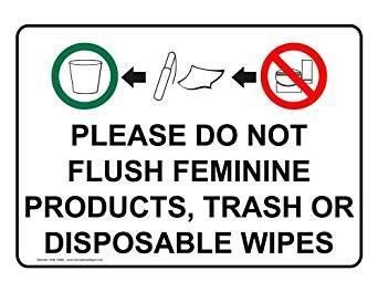 compliancesigns plastic restroom etiquette sign