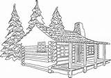 Log Drawing Cabin Coloring Pages Line Sheets Woods Cabins Colouring Drawings Plants Clipart Sun Paintingvalley sketch template