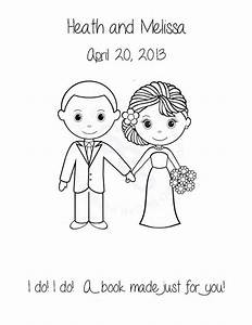 Wedding Bride And Groom Color Book Pages Google Search