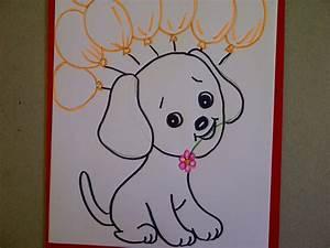 Ideen Zum Zeichnen : geburtstagskarte mit hund hundewelpen zeichnen ideen zum avec was kann ich malen et ~ Yasmunasinghe.com Haus und Dekorationen