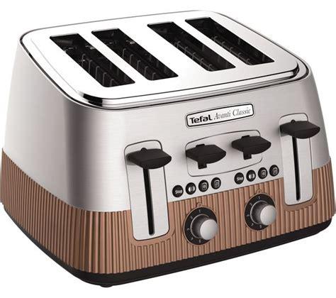 tefal toasters uk buy tefal avanti classic tt780f40 4 slice toaster copper