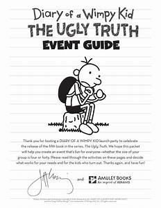 Diary Of A Wimpy Kid The Ugly Truth Event Guide By Abrams