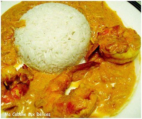 cuisine gambas gambas au curry creme de coco recettes faciles recettes