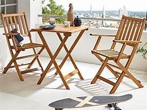Salon De Jardin Acacia : sam robuste salon de jardin 3 pi ces en bois d acacia 1 x table 2 x chaises pliantes ~ Teatrodelosmanantiales.com Idées de Décoration