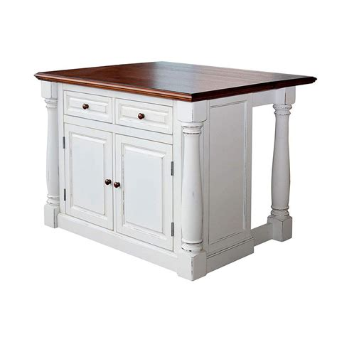 home styles monarch white kitchen island  drop leaf