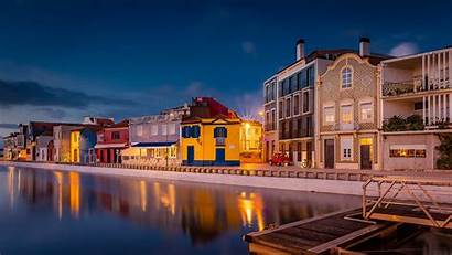 Portugal Aveiro Canal Pier Travel Building 1080