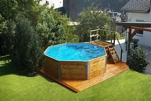 holzpool weka korsika mit sandfilteranlage schwimmbecken With französischer balkon mit garten pool mit sandfilteranlage
