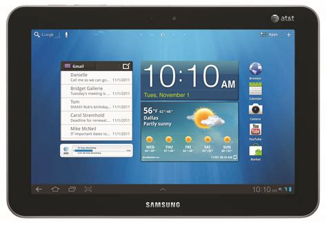 free for android tablet samsung galaxy tab 8 9 with at t s 4g lte arriving