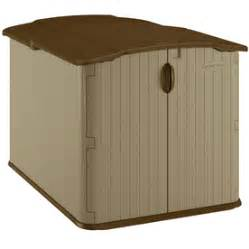 shop suncast taupe resin outdoor storage shed common 57