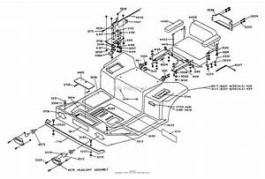 Dixon Ztr 428  1990  Parts Diagram For Body Assembly