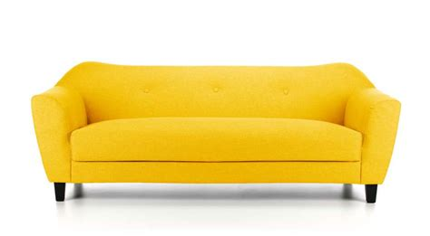 fabric sofa yellow reversadermcream