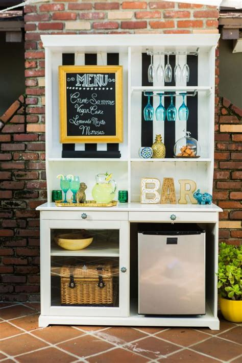 upcycle  hutch   outdoor bar  buffet hgtv